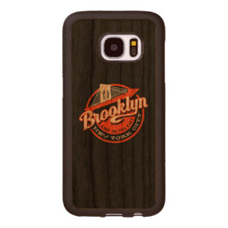 Brooklyn New York City | Retro Typography Wood Samsung Galaxy S7 Case