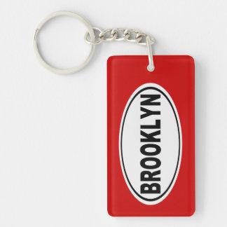 Brooklyn New York Double-Sided Rectangular Acrylic Key Ring