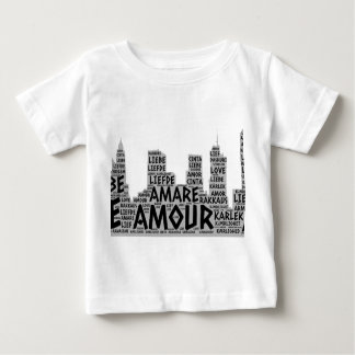 Brooklyn New York illustrated with Love Word Baby T-Shirt