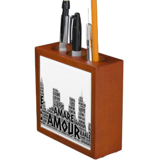 Brooklyn New York illustrated with Love Word Desk Organiser