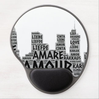 Brooklyn New York illustrated with Love Word Gel Mouse Pad