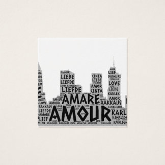 Brooklyn New York illustrated with Love Word Square Business Card