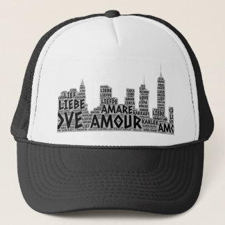 Brooklyn New York illustrated with Love Word Trucker Hat