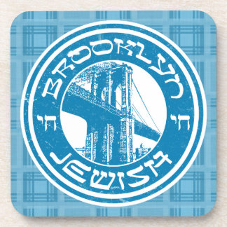 Brooklyn New York Jewish Coaster Set