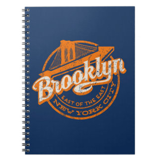 Brooklyn, New York | Retro Vintage Typography Note Book
