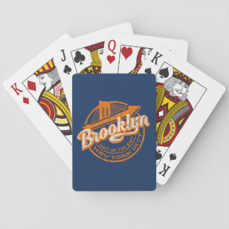Brooklyn, New York | Retro Vintage Typography Playing Cards