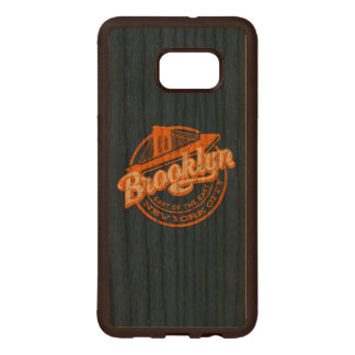Brooklyn, New York | Retro Vintage Typography Wood Samsung Galaxy S6 Edge Case