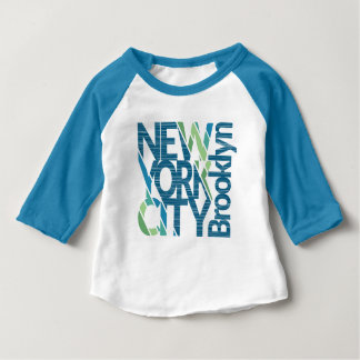 Brooklyn New York Typography Baby T-Shirt