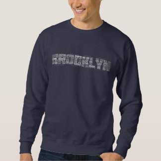 Brooklyn NY Neighborhoods Calligram Sweatshirt