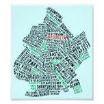 Brooklyn NYC Typography Map
