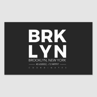 brooklyn rectangular sticker