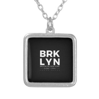 brooklyn silver plated necklace