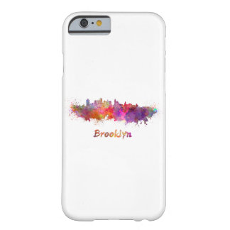 Brooklyn skyline in watercolor barely there iPhone 6 case