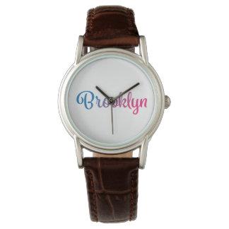 Brooklyn Stylish Cursive Watch