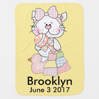 Brooklyn's Personalized Kitty Baby Blanket