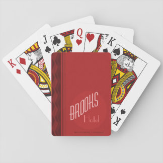 Brooks House Hotel Playing Cards (Red Deck)
