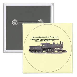 Brooks Locomotive Works #961 15 Cm Square Badge