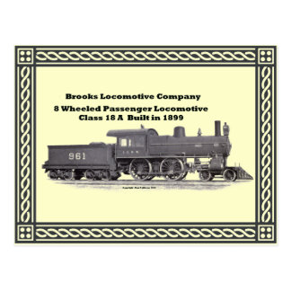 Brooks Locomotive Works #961 Fancy Postcard