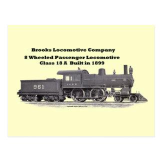 Brooks Locomotive Works #961 Postcard