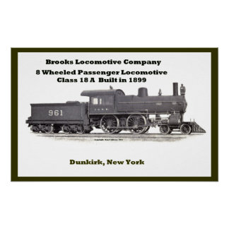 Brooks Locomotive Works #961 Poster