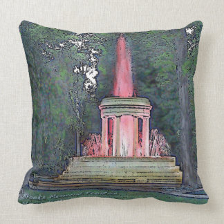 Brooks Memorial Fountain Throw Pillow