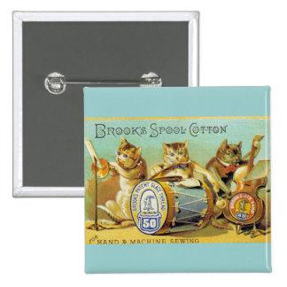 Brooks Spool Cotton 15 Cm Square Badge