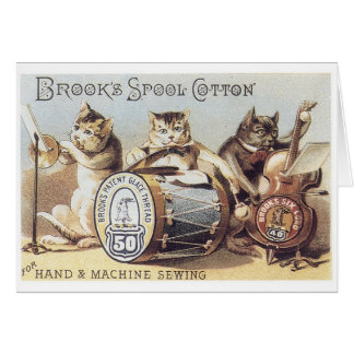 Brooks Spool Cotton Greeting Card