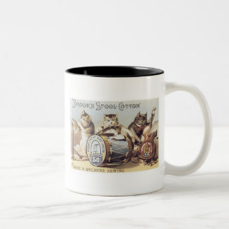 Brooks Spool Cotton Two-Tone Coffee Mug