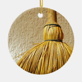 Broom Ceramic Ornament