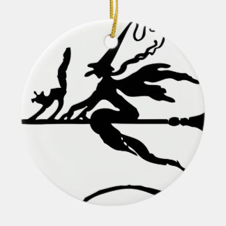 Broom Rider Ceramic Ornament