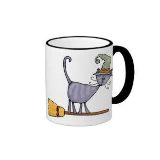 broomstick kitty mug