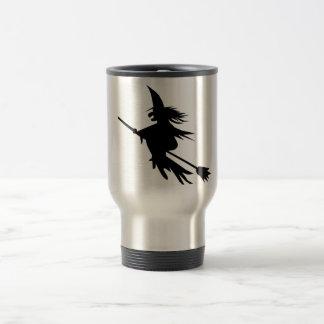 Broomstick Witch Silhouette Coffee Mug