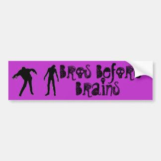 Bros Before Brains Bumper Sticker