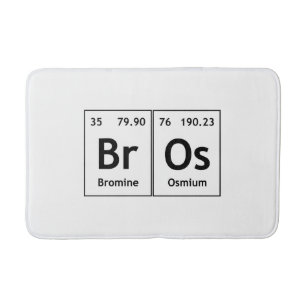 Elements symbols words periodic table gifts on zazzle au bros chemistry periodic table words element symbol bath mat urtaz Image collections