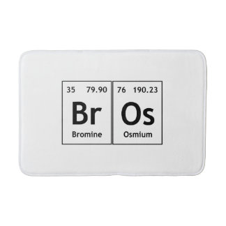 BrOs Chemistry Periodic Table Words Element Symbol Bath Mats