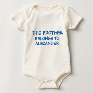 Brother and/or sister names on baby Brother's Baby Bodysuit