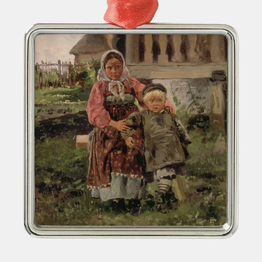 Brother and Sister, 1880 Christmas Tree Ornaments
