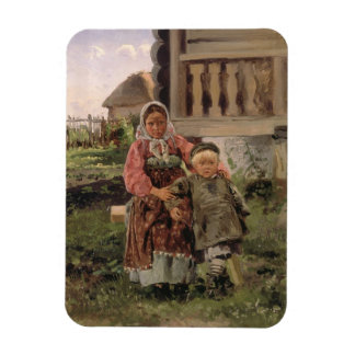 Brother and Sister, 1880 Rectangular Photo Magnet