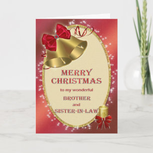 Sister in law christmas cards zazzle au brother and sister in law christmas card m4hsunfo