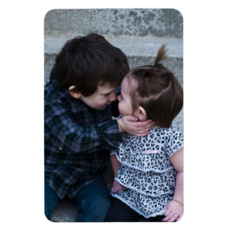 Brother and Sister Rectangular Photo Magnet