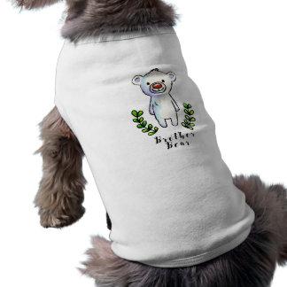 Brother Bear Ink and Watercolor Illustration Sleeveless Dog Shirt