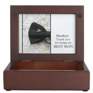 Brother best man thank you keepsake boxes