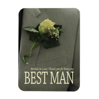 Brother best man thank you rectangular photo magnet