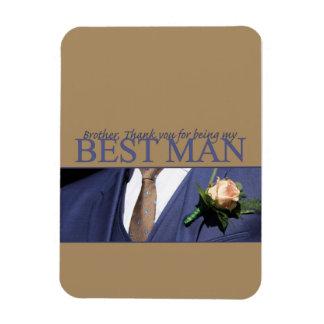 Brother best man thank you rectangular photo magnet