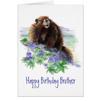 Brother,  Birthday Endangered Animal Greeting Greeting Card