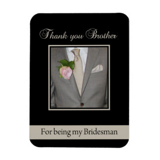 Brother Bridesman thank you Rectangular Photo Magnet