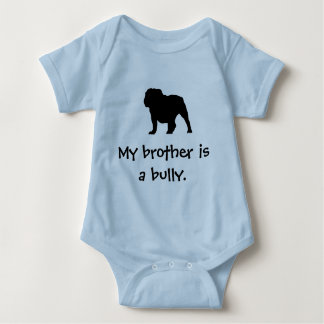 Brother Bully Blue Baby Bodysuit