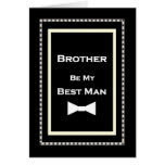 BROTHER Custom Name Best Man Wedding Invitation Cards