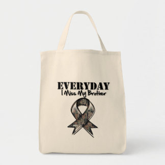 Brother - Everyday I Miss My Hero Military Canvas Bags