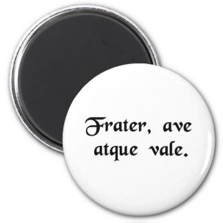 Brother hello and good-bye fridge magnets